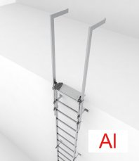 Crynoline Steigleiter aus Aluminium ohne