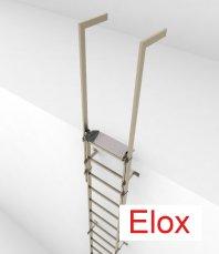 Crynoline Steigleiter aus eloxiertem Aluminium ohne Rückenschutz