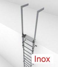 Crynoline Steigleiter aus Edelstahl ohne Rückenschutz