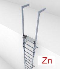 Crynoline Steigleiter aus feuerverzinktem Stahl ohne Rückenschutz
