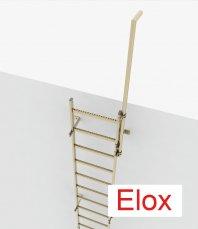 Crynoline Schachtleiter aus eloxiertem Aluminium