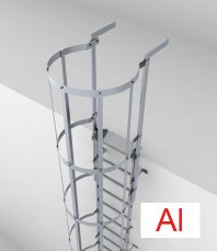 Crynoline Steigleiter aus Aluminium mit