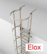 Crynoline Steigleiter aus eloxiertem Aluminium mit Rückenschutz