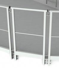 Огородження покрівельні(перила) для монтажу до краю конструкції